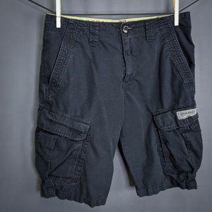 Union Bay Shorts Size 30 Black Mens Cargo Casual